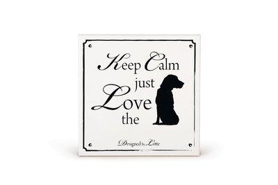 DBL Wandtegel Love Hond
