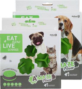 Eat Slow Live Longer Amaze Flower Groen