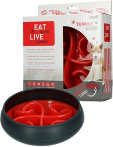 Eat Slow Live Longer Tumble Feeder Rood