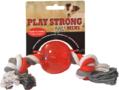 Playstrong-Rubberen-bal-met-flostouw-Rood