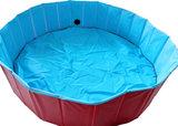 Kowloon hondenzwembad anti-slip rood/blauw, Ø 80x20 cm._6