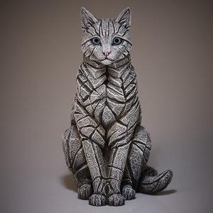 Cat Sitting White