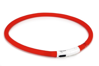 Beeztees Safety Gear siliconen halsband met USB
