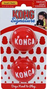 Kong 'Signature' balls pak a 2 stuks, small. (bal Ø 5.5 cm, voor honden tot 9 kg)