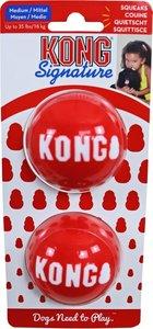 Kong 'Signature' balls pak a 2 stuks, medium. (bal Ø 6.5 cm, voor honden tot 16 kg)