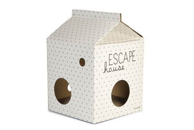 Beeztees Kitten Escape Kattenhuis Karton 35x35x50cm