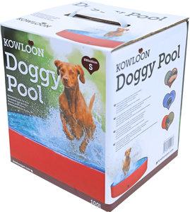 Kowloon hondenzwembad anti-slip rood/blauw, Ø 80x20 cm.