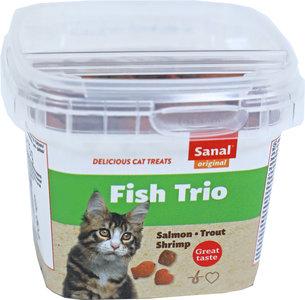 Sanal kat fish trio cups, 75 gram