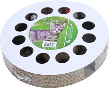 Boon cat track karton met 2x bal met catnip, 32 cm