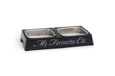Melamine Dinnerset grijs kat