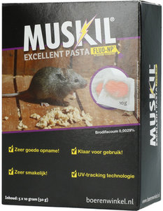 Muskil Excellent Pasta Muis (5x10g) muizengif